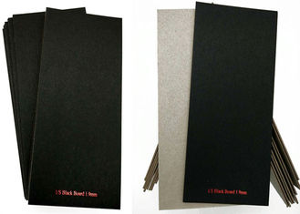 SGS / RoHS C1S Black Paper Laminated Paperboard Grey Back 1.9mm Solid Grade A